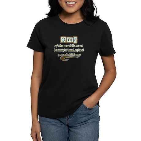 Oma of Gifted Grandchildren Women's Dark T-Shirt
