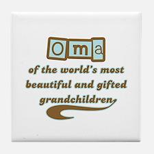 Oma of Gifted Grandchildren Tile Coaster