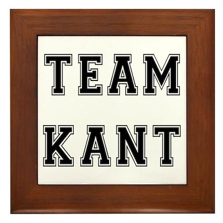 Team Kant Framed Tile