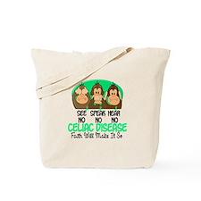 See Speak Hear No Celiac Disease 1 Tote Bag