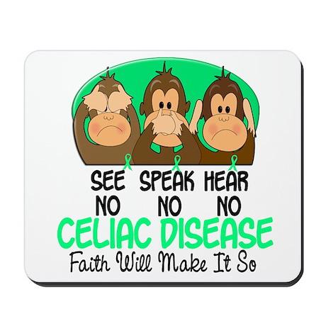 See Speak Hear No Celiac Disease 1 Mousepad