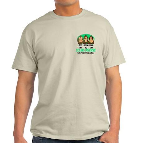 See Speak Hear No Celiac Disease 1 Light T-Shirt