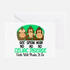 See Speak Hear No Celiac Disease 1 Greeting Card