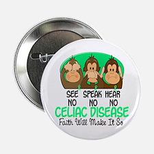 "See Speak Hear No Celiac Disease 1 2.25"" Button"