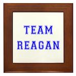 Team Reagan Framed Tile