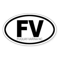 'FUQUAY-VARINA' Oval Decal