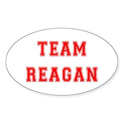 Team Reagan Oval Decal