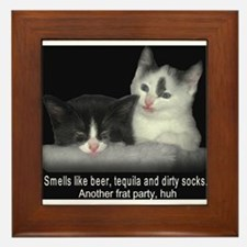 Frat Cat Framed Tile