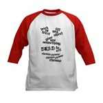 Trick or Treat Rhyme Kids Baseball Jersey