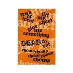 Trick or Treat Rhyme Orange Rectangle Magnet