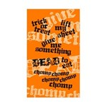 Trick or Treat Rhyme Orange Rectangle Sticker