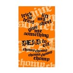 Trick or Treat Rhyme Orange Sticker (Rect. 50 pack