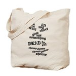 Trick or Treat Rhyme Tote Bag
