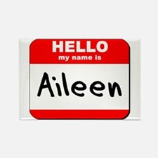 Hello my name is Aileen Rectangle Magnet
