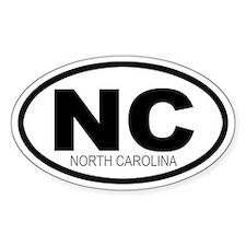 'NORTH CAROLINA' Oval Decal