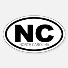 'NORTH CAROLINA' Oval Decal