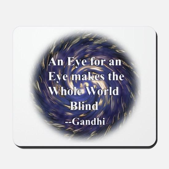 Gandhi quotation Mousepad