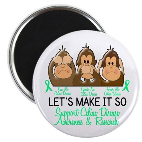 See Speak Hear No Celiac Disease 2 Magnet