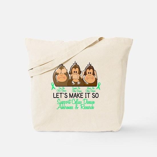 See Speak Hear No Celiac Disease 2 Tote Bag
