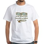 PapPap of Gifted Grandchildren White T-Shirt