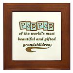 PapPap of Gifted Grandchildren Framed Tile