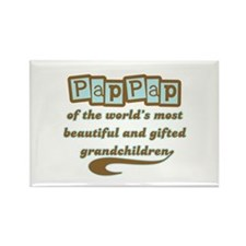 PapPap of Gifted Grandchildren Rectangle Magnet