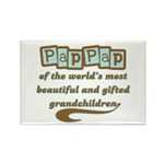 PapPap of Gifted Grandchildren Rectangle Magnet (1