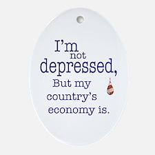 US Financial depression Oval Ornament