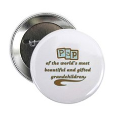 """Pap of Gifted Grandchildren 2.25"""" Button"""