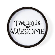 Cool Tatum Wall Clock