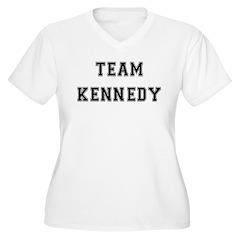 Team Kennedy Women's Plus Size V-Neck T-Shirt