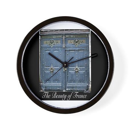 Blue Entrance Wall Clock