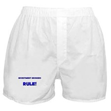Investment Brokers Rule! Boxer Shorts