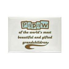 Papaw of Gifted Grandchildren Rectangle Magnet