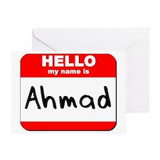 Hello my name is Ahmad Greeting Card