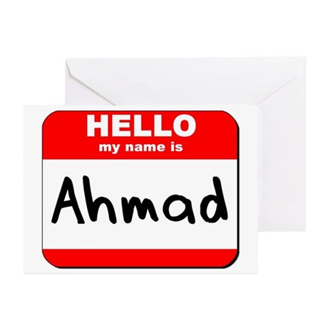 Hello my name is Ahmad Greeting Cards (Pk of 10)