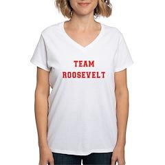 Team Roosevelt Women's V-Neck T-Shirt