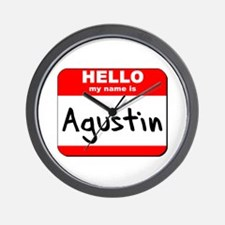 Hello my name is Agustin Wall Clock