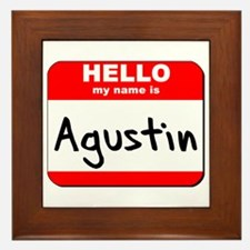 Hello my name is Agustin Framed Tile