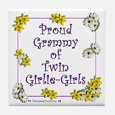 Proud Grammy of Girlie Girls Tile Coaster