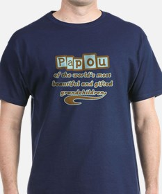 Papou of Gifted Grandchildren T-Shirt