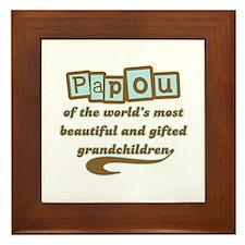Papou of Gifted Grandchildren Framed Tile