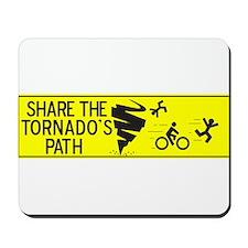 share the tornado path Mousepad