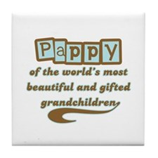 Pappy of Gifted Grandchildren Tile Coaster