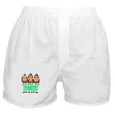 See Speak Hear No Celiac Disease 3 Boxer Shorts
