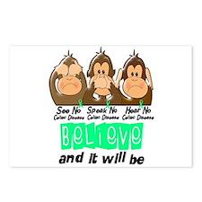 See Speak Hear No Celiac Disease 3 Postcards (Pack
