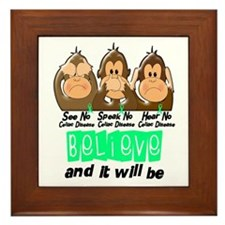 See Speak Hear No Celiac Disease 3 Framed Tile