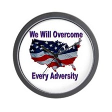 Overcome Adversity Wall Clock