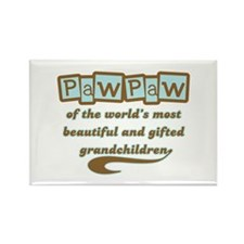 PawPaw of Gifted Grandchildren Rectangle Magnet