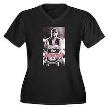 """""""Bikers For McCain"""" Women's Plus Size V-Neck Dark"""